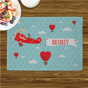 Personalized Up in the Air Kids Placemat U999321