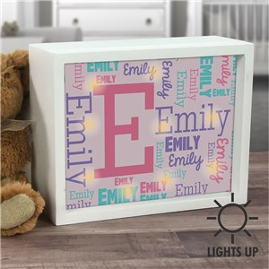 Lighted Shadow Box | Personalized Name Sign