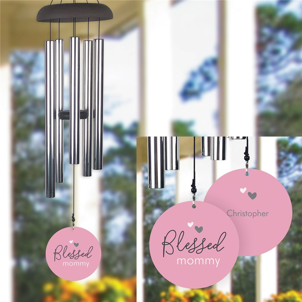 Personalized Blessed Wind Chime UV111637