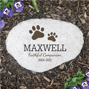 Personalized Pet Memorial Flat Garden Stone