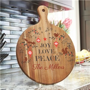 Joy Love Peace Paddle | Personalized Acacia Paddle