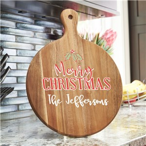Merry Christmas Paddle Board | Personalized Merry Christmas Acacia Paddle
