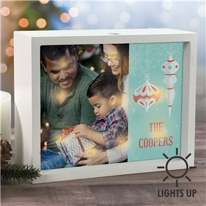 Lighted Shadow Box | Personalized Christmas Photo Frames