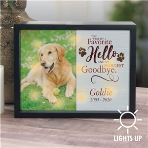 Personalized Favorite Hello Hardest Goodbye LED Shadow Box UV139522X