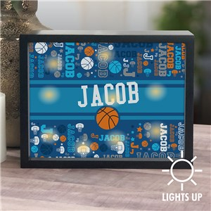 Personalized Sports Word-Art LED Shadow Box UV141522X