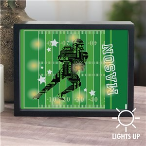 Personalized Sports Player Word-Art LED Shadow Box UV141532X