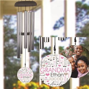 Personalized Title Word-Art Wind Chime UV143977