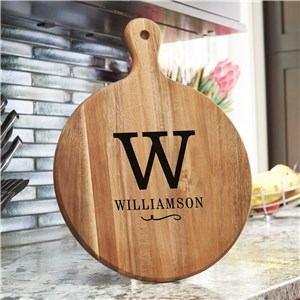 Personalized Acacia Paddle | Kitchen Decor With Initial