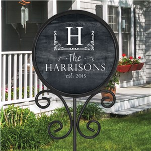 Personalized Magnetic Name Sign | Outdoor Chalkboard Name Sign