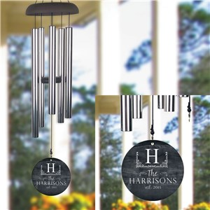 Personalized Wind Chime | Family Established Home Decor