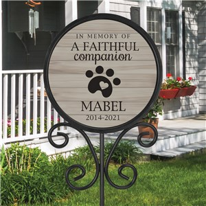 Personalized Pet Grave Marker | Memorial Pet Sign For Outdoors