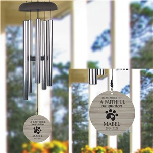Engraved Wind Chime | Pet Memorial Wind Chime