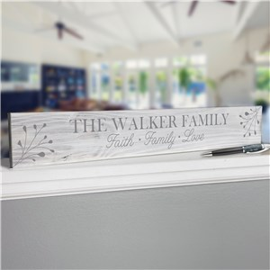 Personalized Home Decor Sign | White Washed Family Sign