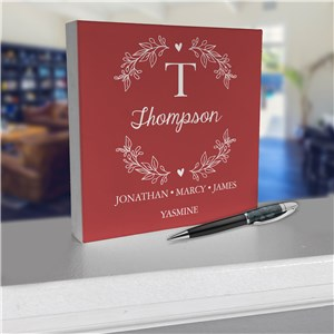 Personalized Desk Sign | Small Family Signs