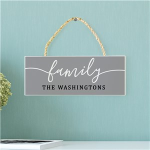 Rope Cord Family Sign | Personalized Family Sign