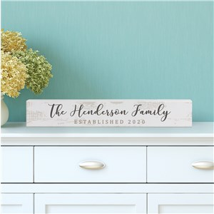 Personalized Family Sign | Year Established Mantel Decor