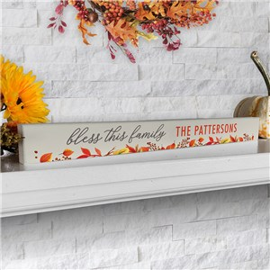 Personalized Fall Leaves Sign | Indoor Fall Decor