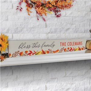 Personalized Fall Sign | Bless This Family Fall Decor