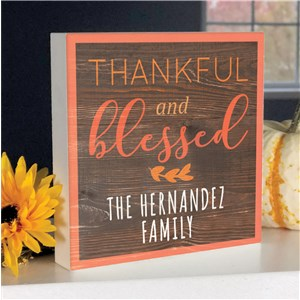 Personalized Fall Decor | Thankful and Blessed Sign