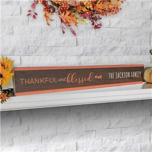 Personalized Fall Sign | Tabletop Fall Decor