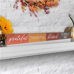 Personalized Fall Sign | Grateful Thankful Blessed Decor
