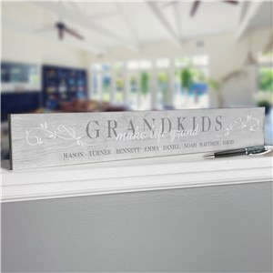 Personalized Decor for Grandparents | Grandkids Make Life Grand Sign