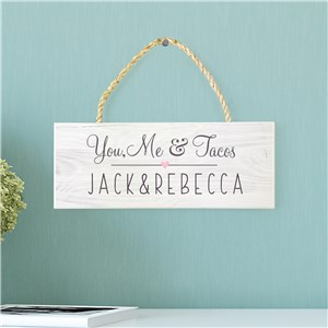 Personalized Couples Hanging Sign | Cute Couples Decor
