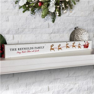 Personalized Santa's Sleigh Sign | Tabletop Christmas Decor