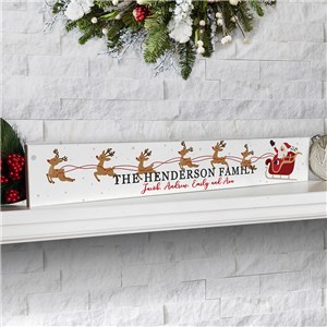Personalized Sleigh Decor | Unique Santa Decoration