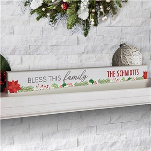 Personalized Christmas Wreath Decor | Bless This Family Decor