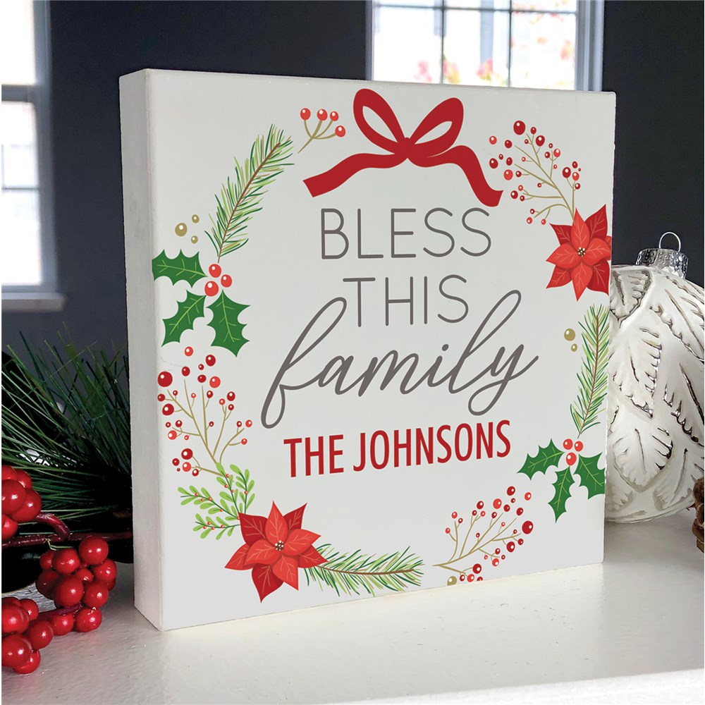 Personalized Holiday Decor | Bless This Family Decoration