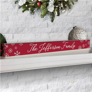 Personalized Snowflakes Sign | Tabletop Christmas Decoration