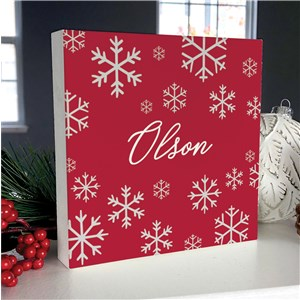 Personalized Holiday Decor | Tabletop Snowflake Christmas Sign