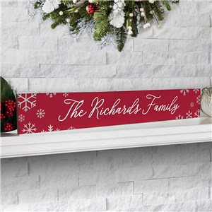 Personalized Holiday Decor | Tabletop Christmas Sign