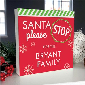 Personalized Holiday Decor | Santa Tabletop Sign