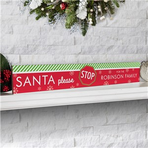 Personalized Holiday Decor | Santa Stop Here Decor