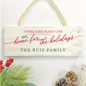Personalized Holiday Decor | Home for the Holidays Sign