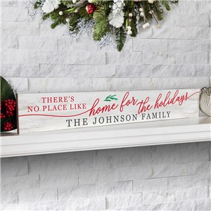 Personalized Holiday Decor | Home for the Holidays Decoration