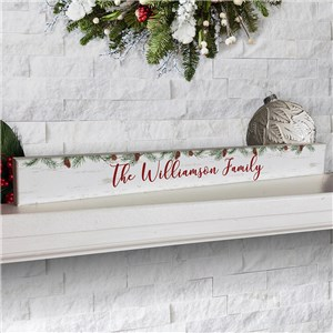 Personalized Holiday Pine Tree Sign | Rustic Holiday Sign