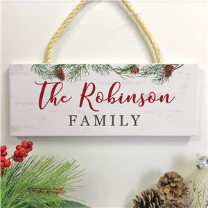 Personalized Holiday Decor | Winter-Themed Sign