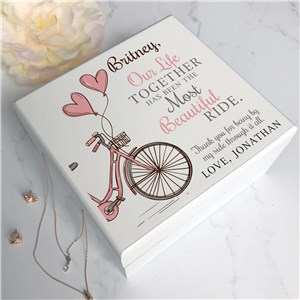 Jewelry Box for Her | Personalized Bicycle Themed Gifts