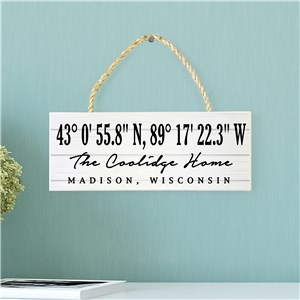 Personalized Rope Sign | Coordinates Home Sign
