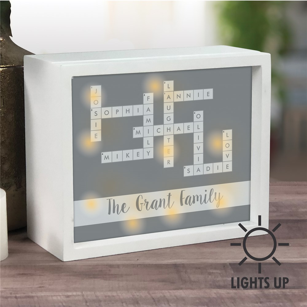 Personalized Shadow Box | Customized Light Box Decor