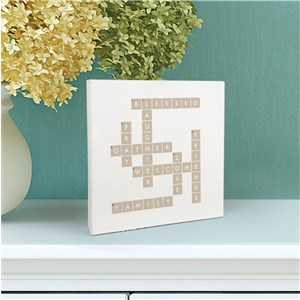 Personalized Square Sign | Crossword Tabletop Sign