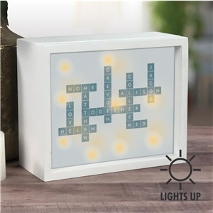 Personalized Shadow Box | Crossword-Themed Decor