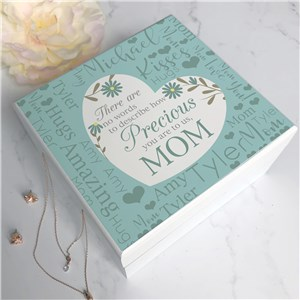Personalized Floral Jewelry Box