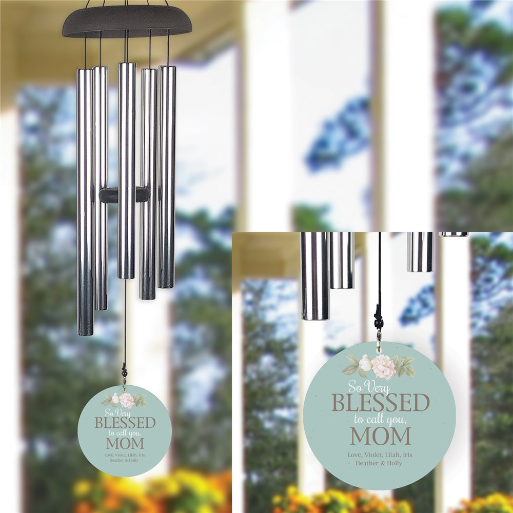 Personalized So Very Blessed to Call You Wind Chime UV161067