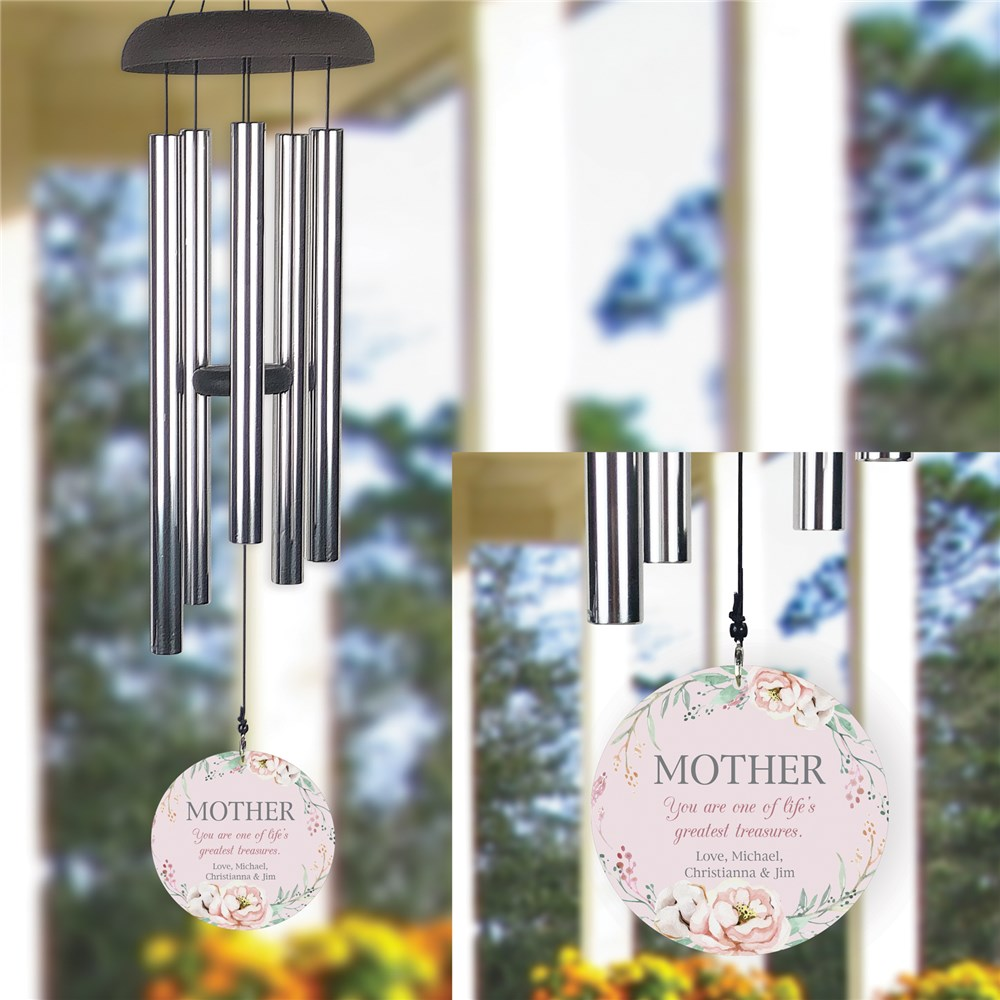 Personalized Mom Wind Chime