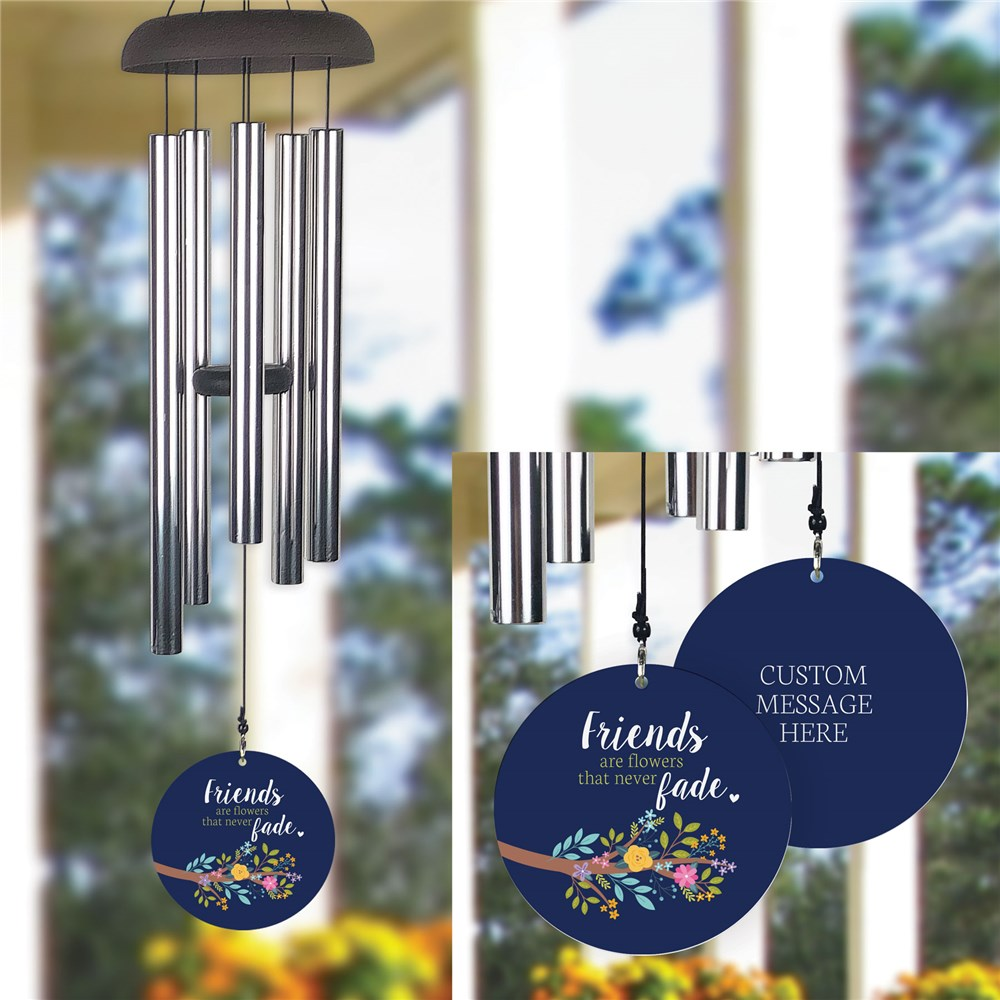 Personalized Floral Wind Chime for Friend