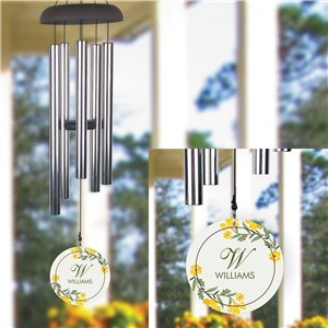 Personalized Yellow Flowers Wind Chime